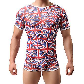 Men Short Sleeve T-shirt Tops Sport Gym Undershirt Slim Muscle Tee Shirt