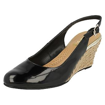 Ladies Van Dal Slingback Wedge Shoes Tilton