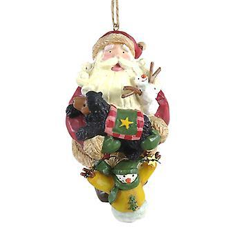 Santa en Woodland dierenvrienden Vakantiewoningen kerst Ornament