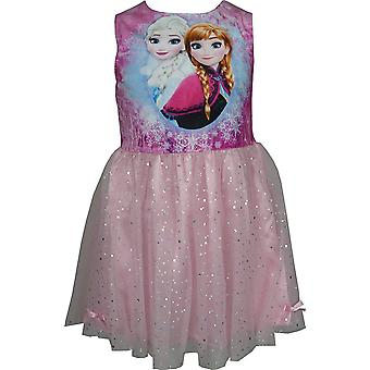 Disney frosne piger fløjl Fancy ærmeløs kjole