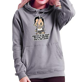 Lil Die Hard John McClane Come Out to the Coast Women's Hooded Sweatshirt