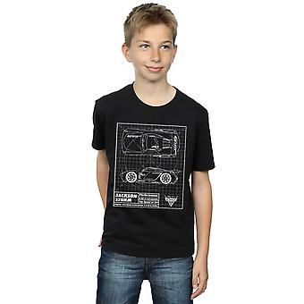 Disney Boys autók Jackson vihar Blueprint T-shirt