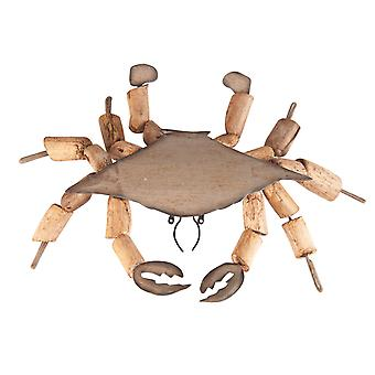 King of the Sea Crab Crustacean Driftwood 6 Inch Holiday Christmas Ornament