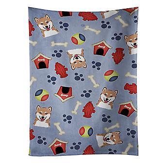 Carolines schatten BB4004KTWL hond huis collectie Shiba Inu keuken handdoek
