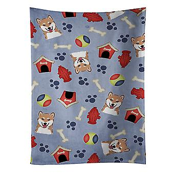 Carolines Treasures  BB4004KTWL Dog House Collection Shiba Inu Kitchen Towel