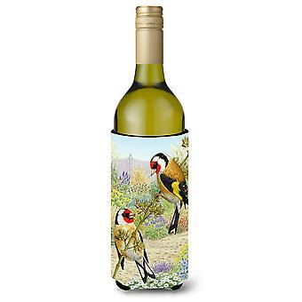 European Goldfinches Wine Bottle Beverage Insulator Hugger