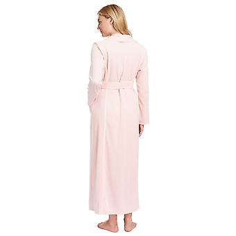 Féraud 3883035-10013 Women's Peach Pink Cotton Robe Loungewear Bath Dressing Gown