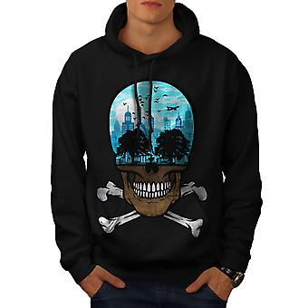 Head City Face Art Skull Men BlackHoodie | Wellcoda