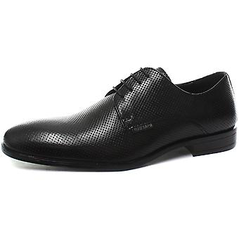 Red Tape Black Leather Mens Formal Lace Up Shoes