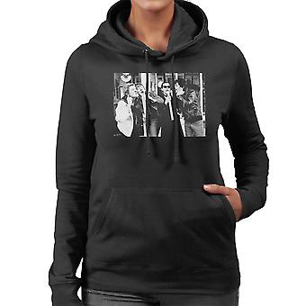 The Damned Outside Stiff Records 1977 Women's Hooded Sweatshirt