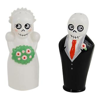 Bride and Groom Newlydeads Salt and Pepper Shakers