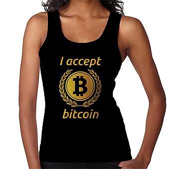 I Accept Bitcoin Women's Vest