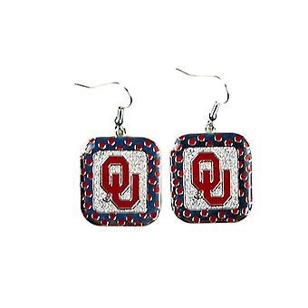 Oklahoma Sooners NCAA Polka Dot Style boucle d'oreille