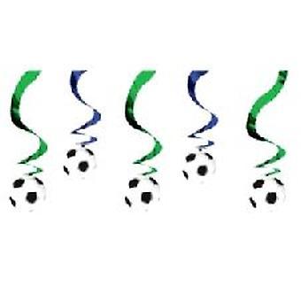 Voetbal opknoping Swirl decoratie