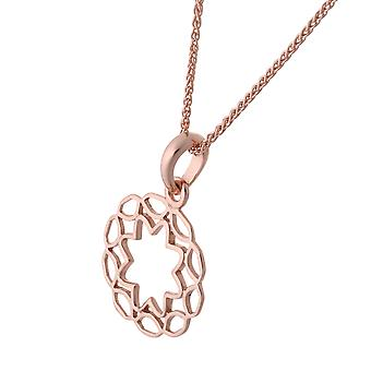 Orphelia Silver 925 Chain With Pendant Circle Rosegold Plate   ZH-7076/1