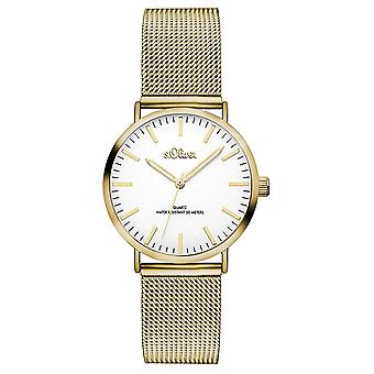 s.Oliver women's watch wristwatch stainless steel SO-3271-MQ