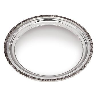Large Celtic Rim Pewter Tray