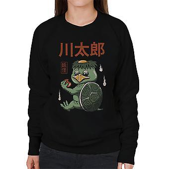 Yokai potwory żółw Kappa Damska bluza