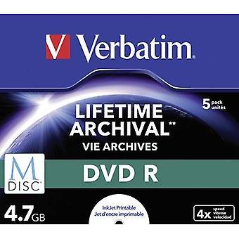 Ordagrant 43821 tom M-Disc DVD 4,7 GB 5 PC (s) fodral utskrivbara