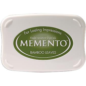 Memento Dye Ink Pad-Bamboo Leaves