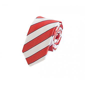 Schlips Krawatte Krawatten Binder 6cm rot weiß gestreift Fabio Farini