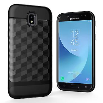 Capa celular caso capa para Samsung Galaxy J3 2017 capa - capa 3D prisma projeto preto