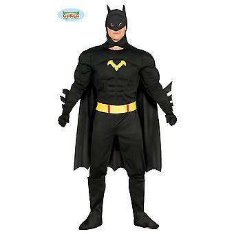 Guirca black superhero Carnival Carnival costume for men bat man black superhero
