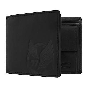 Sac à main camel active mens wallet portefeuille avec puce RFID protection noir 7380