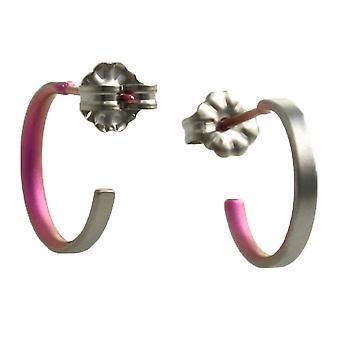 Ti2 Titan små Hoop Örhängen - Candy Pink