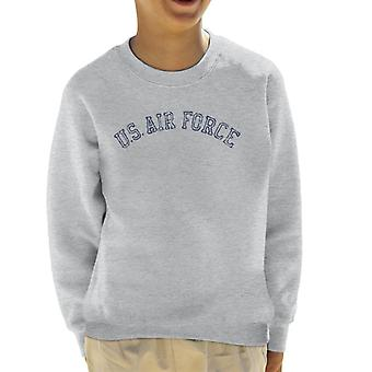 US Airforce utbildning marinblå Text nödställda Kids tröja