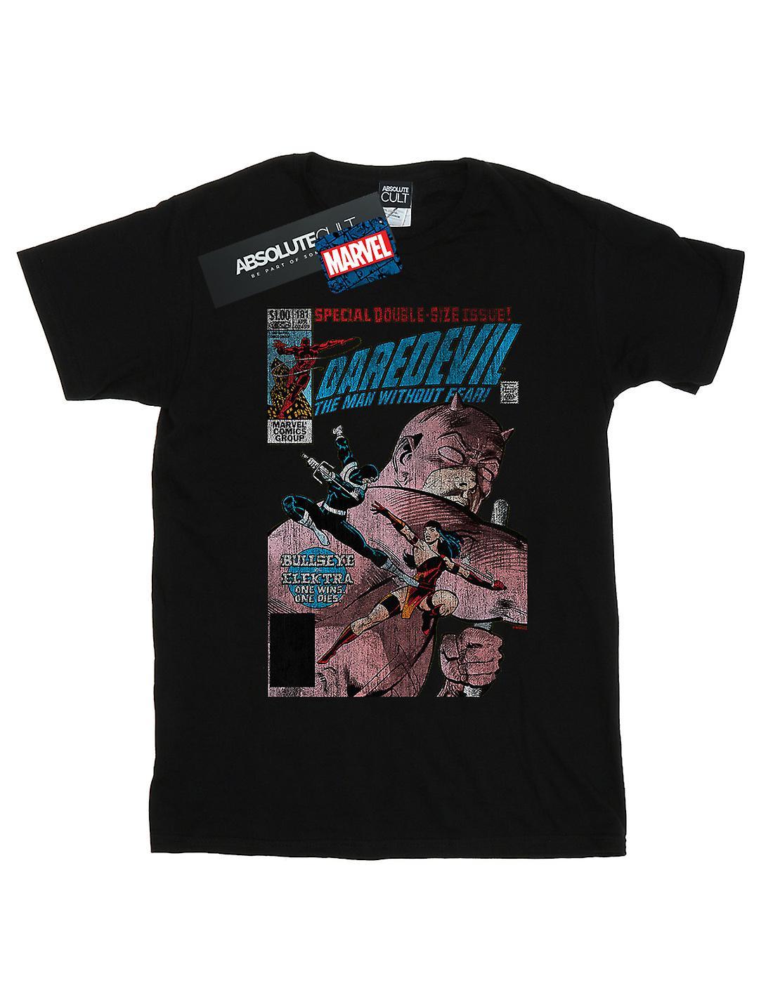 Marvel Women's Daredevil Distressed Bullseye Vs Elektra Cover Boyfriend Fit T-Shirt
