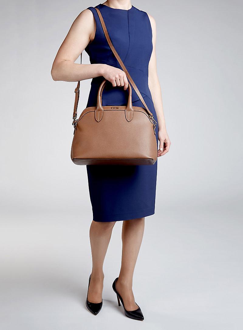 VIVER Carryall Brown Large Leather Handbag