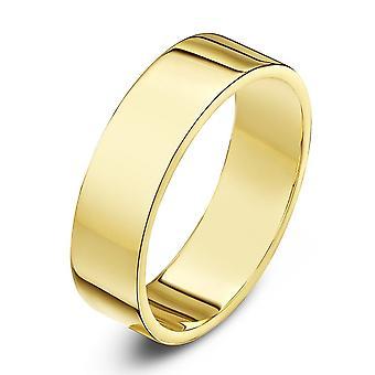 Star Wedding Rings 9ct Yellow Gold Heavy Flat Shape 5mm Wedding Ring