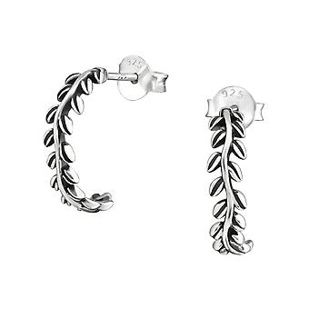 Branch - 925 Sterling Silver Plain Ear Studs - W37898x