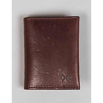 Tumble and Hide Chukka Leather Card Holder - Brown