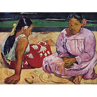 Naisten Tahiti, Paul Cezanne, 50x40cm