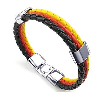 Braided German Tricolour Unisex Wrist Bracelet for National Celebrations - By TRIXES