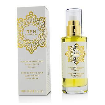 Ren marroquina Rose Gold brilho perfeito óleo seco - 100ml/3,3 oz