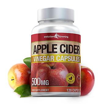 Apple Cider Vinegar 500mg Capsules - 120 Capsules - Fat Burner - Evolution Slimming