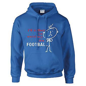 Mäns skulle jag snarare att titta på fotboll Hoodie Royal blå Hoody