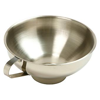 Wide Mouth JAM Funnel - Made of Steel / Stainless Steel Wide-Mouth Funnel with Handle - Canning Funnel 5.5-Inch Diameter