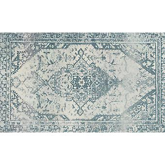 lavar + secar alfombra azul Levi alfombra lavable sin bordes decoración