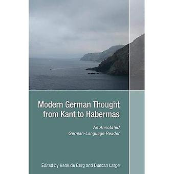 Modern German Thought from Kant to Habermas: An Annotated German-Language Reader (Studies in German Literature Linguistics and Culture)