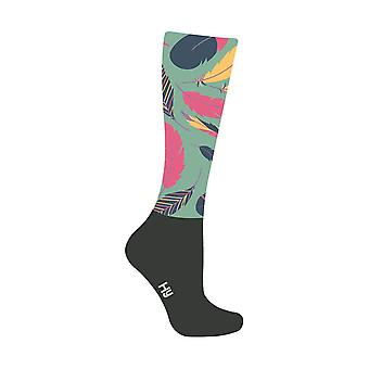 HyFASHION Adults Enchanted Feather Pattern Riding Socks
