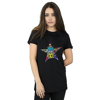 DC Comics naisten Teen Titans mennä Star Logo poikaystävä Fit t-paita