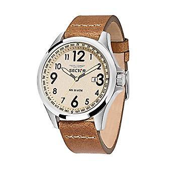 Bracelet cuir de secteur montre quartz analogique homme R3251180012