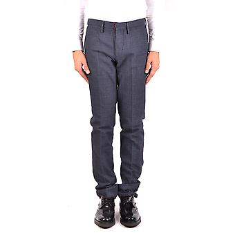 Incotex Ezbc093048 Men's Black Cotton Pants