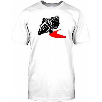 Motorrad-Rennfahrer Pop-Art Design - 144 Kinder T Shirt