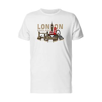 London, England City Map Tee Men's -Image by Shutterstock