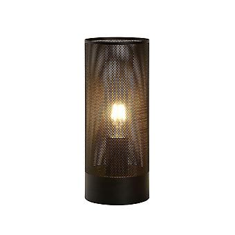 Lampe de Table en métal noir moderne cylindre lucide Beli